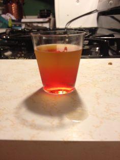 Fire ball shot! So good, fireball whiskey, splash of grenadine.