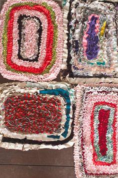 Handmade floor mats from Sri Lanka, by reused textile