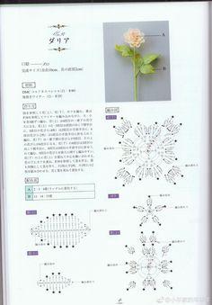 Crochet flowers bouquet diy Ideas for 2019 Crochet Diagram, Crochet Chart, Crochet Motif, Irish Crochet, Crochet Necklace Pattern, Crochet Coin Purse, Crochet Bookmarks, Flower Bouquet Diy, Crochet Bouquet