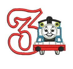 Thomas Applique Thomas the Tank Engine by MyIttyBittyDesigns, $2.99