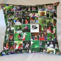 What a great idea.  Family pictures in a pillow.