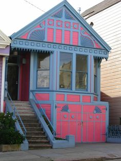 Pink and blue San Francisco home