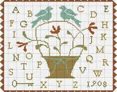 free cross stitch sampler patterns - Bing Images. Free at With Thy Needle and Thread blog. (Brenda Gervais)