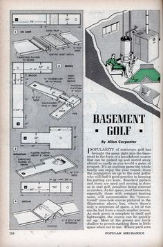 Build a Basement Golf Course - Popular Mechanics (Jun, 1950)