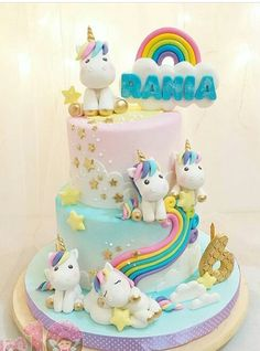 Trendy Ideas For Birthday Party Girl Unicorn Cake Ideas Baby Cakes, Girl Cakes, Cupcake Cakes, Unicorn Birthday Parties, Unicorn Party, Birthday Cake, Unicorn Cakes, Unicorn Cake Topper, Rainbow Birthday
