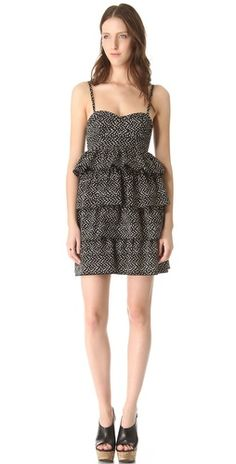 Corsette Ruffle Dress