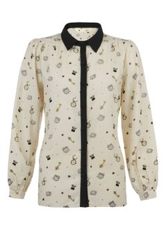 Wonderland Print Shirt - Blouses and Tops - Outlet
