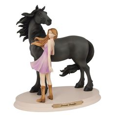 New In Box Horse Whispers Distant Thunder Enesco Horse Figurine