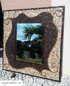 A DIY Mosaic Mirror That Only Looks Expensive