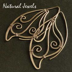Butterfly Wing Hoops  925 Sterling and fine by NaturalJewels, €64.50