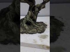 Miniature Trees, Tutorial, Bonsai, Lion Sculpture, Miniatures, Diy Crafts, Youtube, Statue, Artwork
