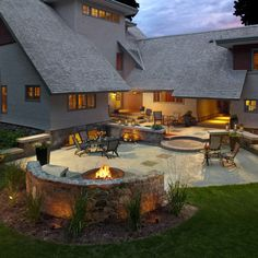Circular Poured Concrete Patio With Stencil Design Ideas, Pictures, Remodel, and Decor - page 3