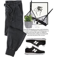 - Jogging morning - by lolgenie on Polyvore featuring Kriss Soonik, New Balance, CLEAN and Lux-Art Silks