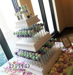 Tampa wedding cake pop and chocolate dipped favors by Sweetly Dipped Confections. Specializing in custom cake pops with for weddings and showers. Wedding Cake Pops, Wedding Cakes, Cake Pop Displays, Wedding Cake Alternatives, Pastel Mint, Wedding Desserts, Chocolate Dipped, Custom Cakes, Dessert Table