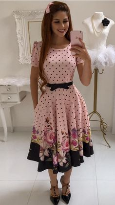 My Feminine Place — herhappysissywife: Happiness Happiness is many. Pretty Outfits, Pretty Dresses, Beautiful Outfits, Cute Outfits, Stylish Dresses, Casual Dresses, Modest Fashion, Fashion Dresses, Trend Fashion