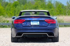 2013 Audi RS5 Cabriolet Rear View