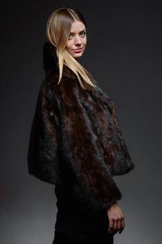 dark brown classic mink jacket – horovitz