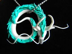 Spirited Away Haku Dragon Pendant by OhLuckyCharm on Etsy, $25.00