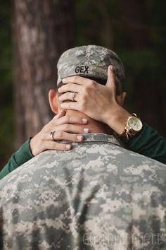 Military Engagement Shoot Ginny Corbett Photography