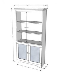 armoire with open shelves and magnetic doors diy projects