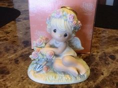 "Precious Moments Limited Edition ""Humble Prayers Make Hearts Bloom"" In Box   #114029"