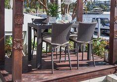 5pce Stanley Bar Table & Lucia Bar Chair Wicker Setting