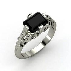 Gothic Wedding Rings Concept for Victorian Bridal Theme