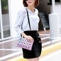 New Baobao Women Pearl Bags Laser Lattice Geometric 4x6 Quilted Shoulder Bag Fold Over Hand Wallet & Crossbody Handbag