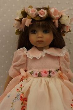 "13"" Little Darling Vintage Roses Ensemble by Ladybugs Doll Designs | eBay"