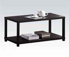The Acme Furniture Wei Espresso Coffee Table offers a stately, simple piece to plan your new living room design around. This wide, rectangular. Espresso Coffee Table, Coffee Table Rectangle, Glass Top Coffee Table, Coffee Table Wayfair, Lift Top Coffee Table, Coffee Table With Storage, Modern Coffee Tables, Brown Coffee, Acme Furniture
