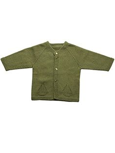 Match Handmade Cotton cashmere Baby Boy Girl Unisex Boat Cardigan Baby BZ11061106 Green36 Months -- You can get more details by clicking on the image.