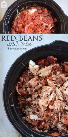 Red Beans and rice with chicken and other chicken dump meals