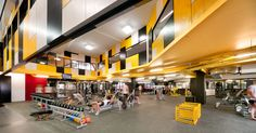 Courtesy of Suters Architects - images © Emma Cross - Punt Road Oval Redevelopment Suters Architects Richmond Football Club, School Design, Interior Architecture, Interior Design, Building, Architects, Melbourne Australia, Sport, Fitness
