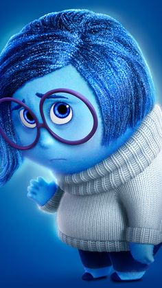 Disney Inside Out Sadness iPhone Wallpaper @PanPins