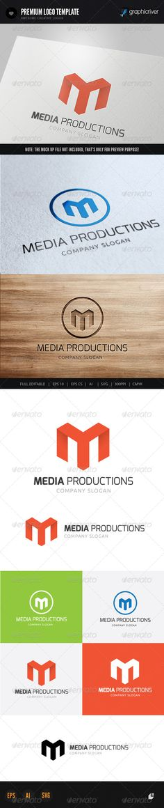 Media Productions - Logo Design Template Vector #logotype Download it here: http://graphicriver.net/item/media-productions-logo/5967119?s_rank=57?ref=nexion