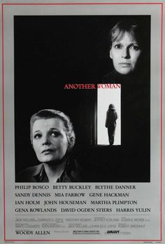 Another Woman. Drawn into another woman's life through eavesdropping, Gena Rowlands' character confronts her own life choices and consequences.