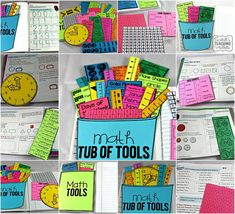 Tunstall's Teaching Tidbits: Math Tools for Reference! Math Resources, Math Activities, Math Tools, Math Manipulatives, Math Fractions, Math Workbook, Math Notebooks, Interactive Notebooks, Math School