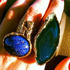 Arty ring, blue #ysl #arty #agate