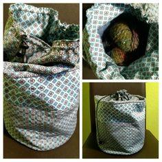 Säckchen für Wolle und Nadeln