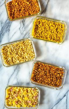 How to Make Cauliflower Rice 5 Ways – The Girl on Bloor - Vegan Asian Best Cauliflower Rice Recipe, How To Make Cauliflower, Healthy Meals To Cook, Healthy Recipes, Healthy Food, Rice Recipes, Cooking Recipes, Low Carb Side Dishes