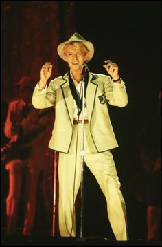 """1983: Bowie performing as part of his """"Serious Moonlight"""" tour after the release of the album """"Let's Dance."""" (Corbis)"""