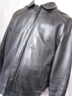 Coat Leather Medium Bostonian Moores Black Mens Aviator Bomber Motorcycle Jacket - eBay Seller Username janna! Ebay Auction, Username, Motorcycle Jacket, Aviation, Raincoat, Leather Jacket, Blazer, Mens Fashion, Medium