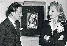 Salvador Dali e Tamara de Lempicka, 1941 (foto di Nicholas w. Salvador Dali Kunst, Tamara Lempicka, Isadora Duncan, Estilo Art Deco, Art Moderne, Famous Artists, Art Deco Fashion, Artist At Work, Art History