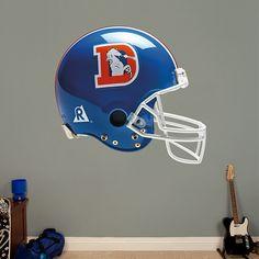 Denver Broncos Throwback Helmet REAL.BIG. Fathead Wall Graphics   Denver Broncos Wall Decal   Sports Home Décor   Football Bedroom/Man Cave/Nursery