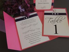 Pearl Accent Wedding Invitation