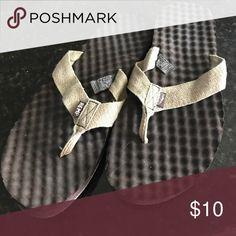 Hemp flip flops Size 11, only worn once, hemp flip flops with cushy sole. Super comfy Simple Shoes Sandals & Flip-Flops