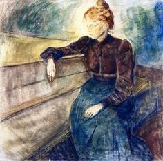 Edvard Munch – 1898-99 Female Portrait (mixed media on canvas 105.5 x 107.8 cm) Bergen Art Museum