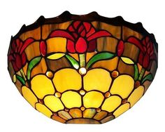 This Tiffany Style lamp is handcrafted using the same techniques that were developed by Louis Comfort Tiffany in the early 1900s. #myrustica