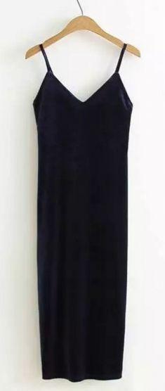 Rochie bleumarin din catifea Basic Tank Top, Camisole Top, Tank Tops, Women, Fashion, Moda, Halter Tops, Women's, Fashion Styles