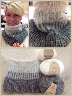 Heidi from @fiordilana shows off her gorgeous cowl in #DROPSAir, #DROPSCloud and #DROPSBrushedAlpacaSilk. Pattern is Ombre Cowl by Purl Soho: http://www.ravelry.com/patterns/library/ombre-cowl-3